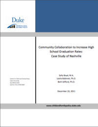 Duke University Community Collab to Inc HS Grade Rates